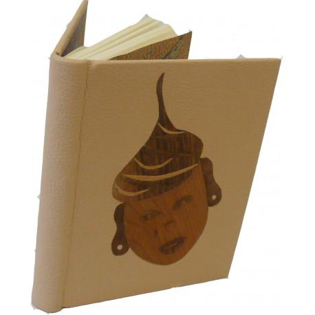 CARNET D'OR - masque en bois - pièce unique