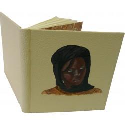 CARNET D'OR - CUIR BEIGE - peinture acrylique
